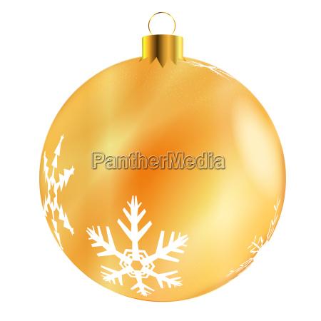 gold tree decoration
