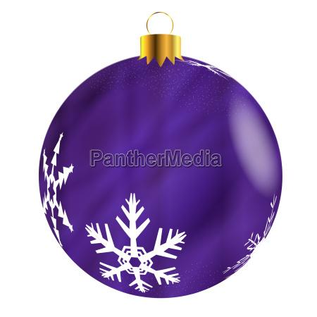 purple tree decoration