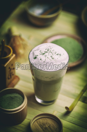 matcha, green, tea, latte - 19413140