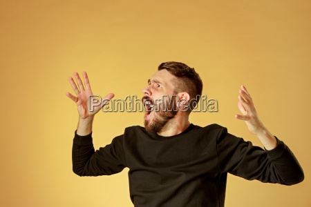 portrait, of, young, man, with, shocked - 19413382