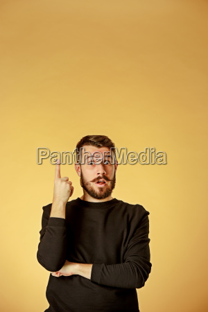 portrait, of, young, man, with, shocked - 19413410