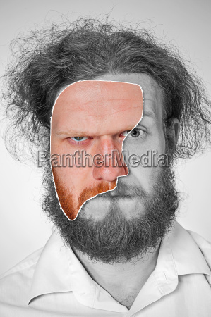 portrait, of, young, man, with, shocked - 19413870