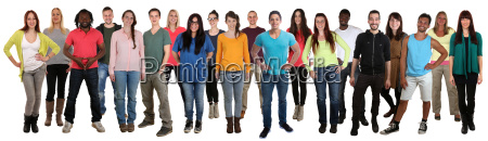 people laugh happily multicultural people large