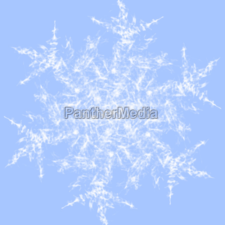abstract snowflake white on light blue