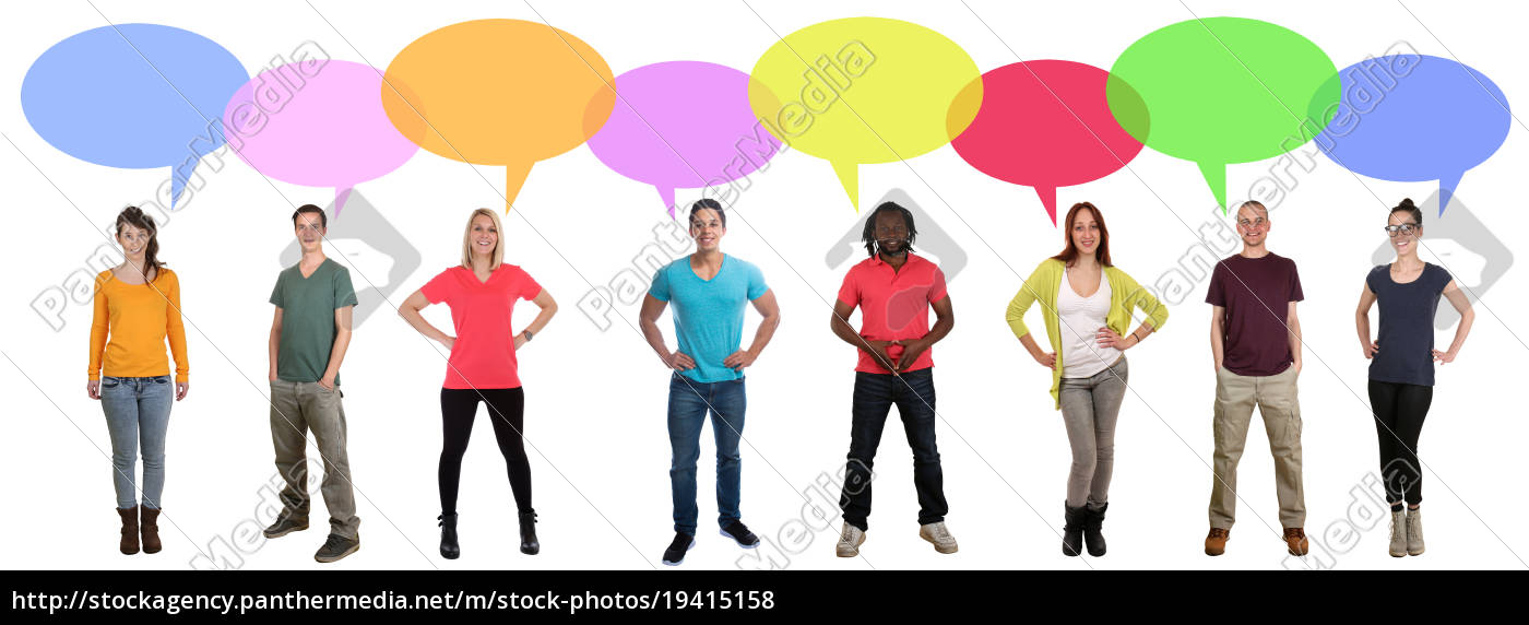 say, people, laugh, multicultural, people, talk - 19415158