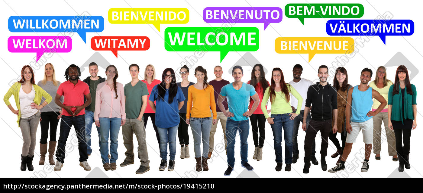 welcome, multicultural, people, group, people, say - 19415210