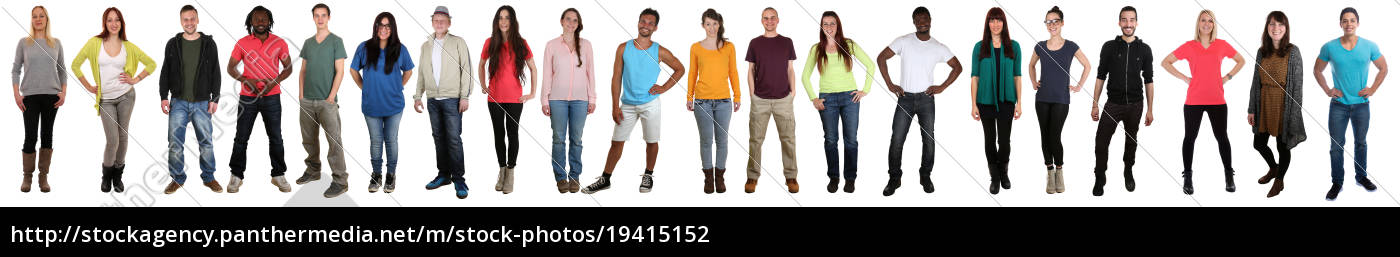 young, people, people, large, group, laugh - 19415152