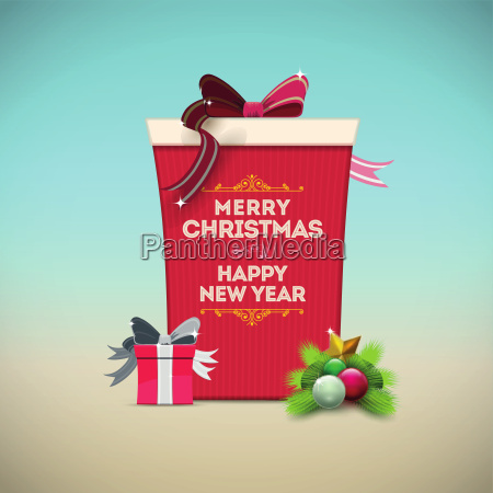christmas gift box message board merry