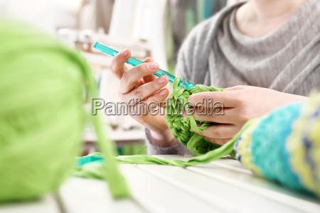 crocheting hand needlework