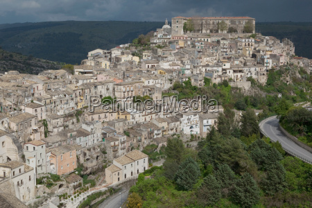 elevated view of the village ragusa