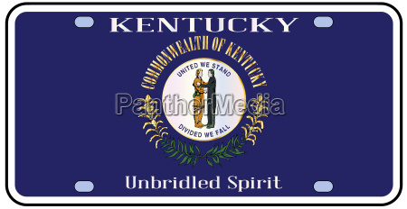 kentucky state license plate flag