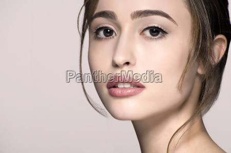 cropped studio portrait of beautiful young