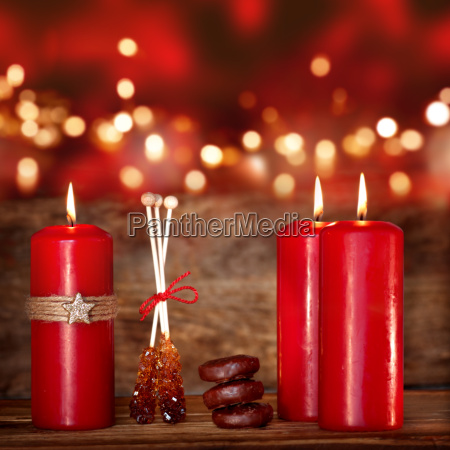 still life with candles for the