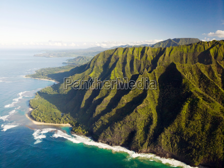 coastline of na pali coast national