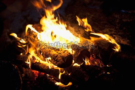 a wood fire inside a sami
