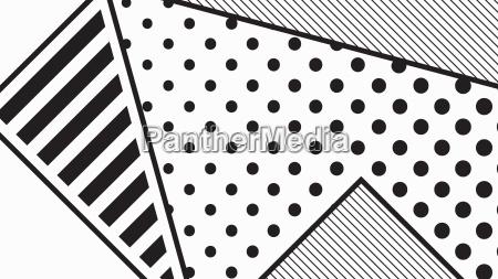black and white pop art geometric
