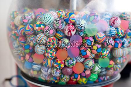 colorful balls in vending machine