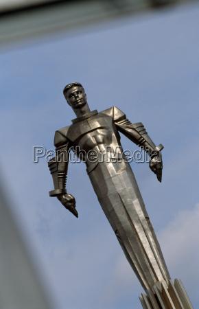 statue of cosmonaut yuri gagarin the