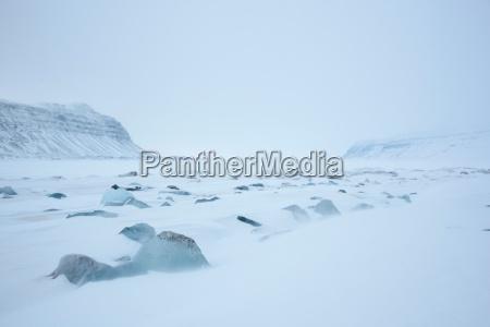 the von post glacier in spitsbergen