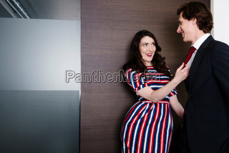 woman trying to seduce man in