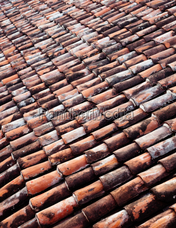 clay roof tiles full frame