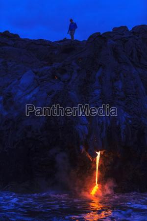 kilauea lava flow kalapana big island