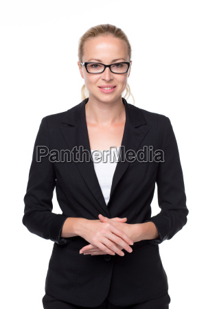 portrait of beautiful young businesswoman in