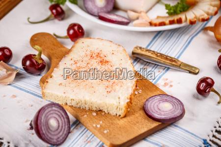 lard bread with red paprika