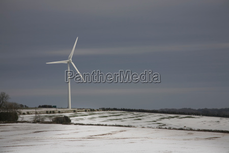 windmill in the snow