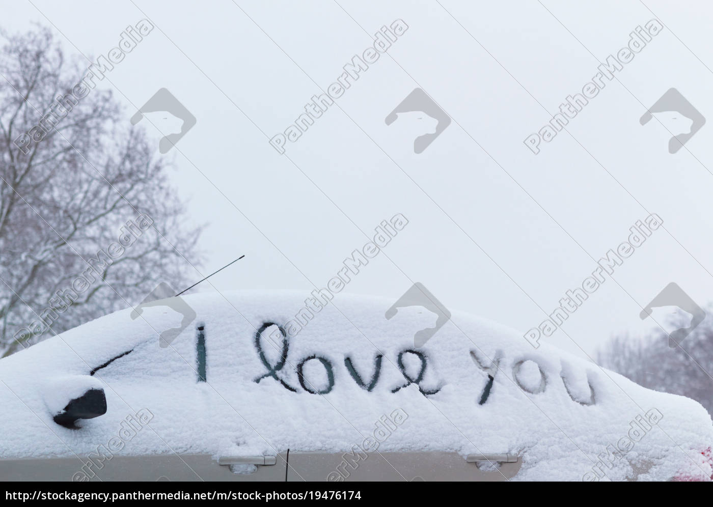 'i, love, you', drawn, in, snow - 19476174