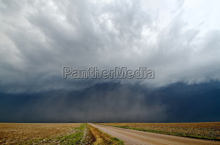 severe storms and dust near garden