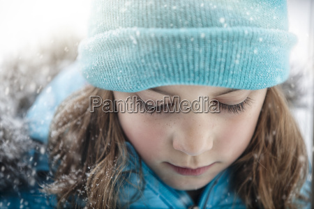 close up portrait of girl wearing