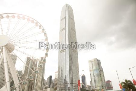 observation wheel and central skyline hong