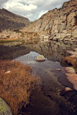 beautiful mountain lake in spain pyreness