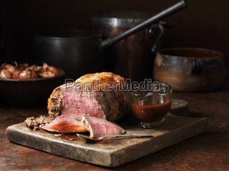 sirloin of beef with porcini mushroom