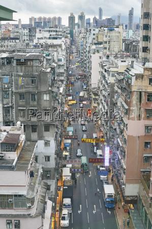 busy city view yau ma tei