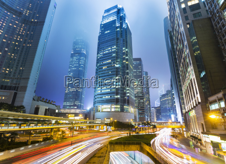 central hong kong skyline with ifc
