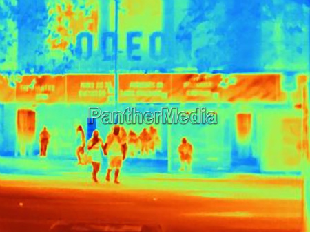 thermal image of movie theater