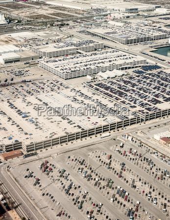 high angle view of rows of