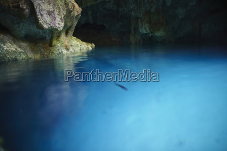cave and water scene from cenote