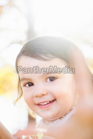 close up view of child with