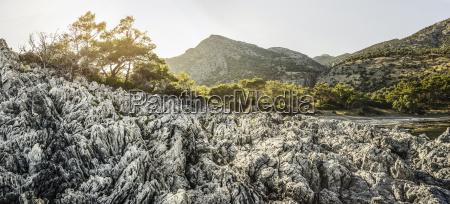 rocky coastline in samos greece