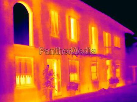 thermal image of mansion