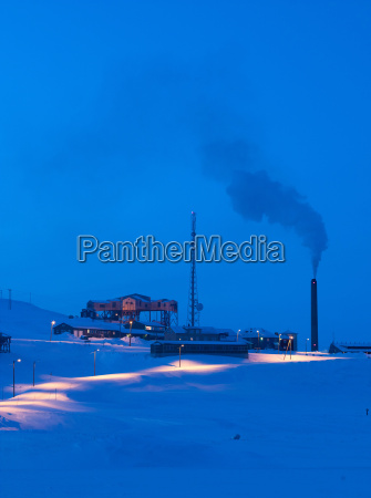 a working mine and power station