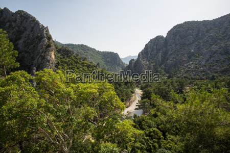 view of river valley olympos lycian