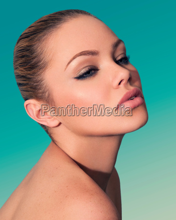 beauty headshot of young woman