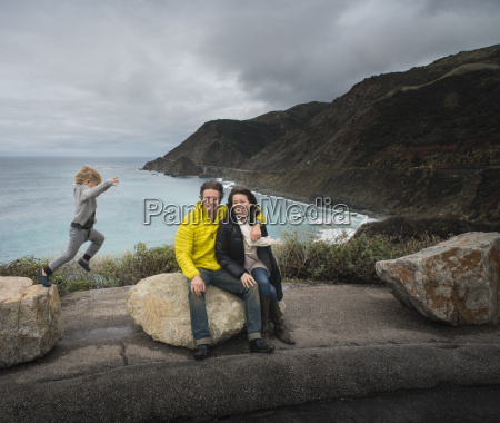 portrait of couple and son at
