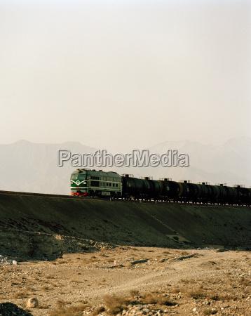 freight train silk route dunhuang jiuquan
