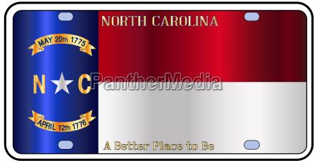 north carolina license plate flag