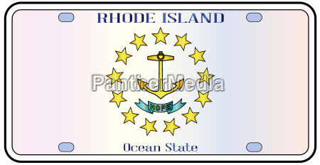rhode island flag license plate